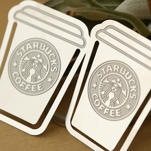 Creative starbucks Stainless Steel bookmark Collector's Edition gift Books Mark Clips Office Teacher Gift Kids School Supplies