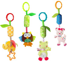 JJOVCE Baby Infant Animal elephant rabbit owl frog Soft Rattles Bed Crib Stroller Music Hanging Bell kids Stuffed Toys 40%off(China)