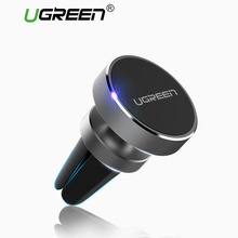 Ugreen Magnetic Phone Car Holder 360 Degree Mobile Phone Mount Air Vent Stand Holder for iPhone 7/6 Samsung S8 Smartphone Stand(China)