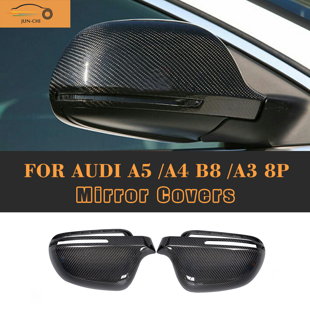A3 A4 A5 Carbon Fiber Replaced Side Mirror Cover for Audi A3 S3 8P A4 B8 S4 RS4 2008 - 2010 A5 S5 8T 2007 - 2009<br><br>Aliexpress