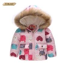 JOMAKE New 2017 Children Outerwear Baby Girls Jackets Coats Cartoon Cat Children Winter Jacket Parkas Kids Clothing Girls Parkas