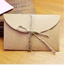 Handmade mini kraft paper envelope 5.8x9cm 200pcs/lot for wedding party invitation card, business card, packaging