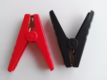 2pcs Car battery clip cables Alligator clips Charger Clamp(China)