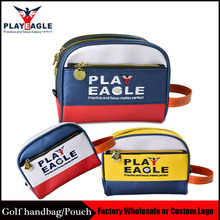 PLAYEAGLE 1 pcs Multifunction Men/Women PU Leather Golf Pouch Mini Golf Handbag Standard Size Golf Bag for Golf Ball/Tee(China)