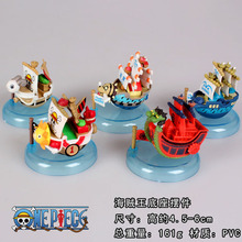 5pcs/set Anime One Piece Ship Model Mini PVC Action Figures Collectible Model Toys OPFG438(China)