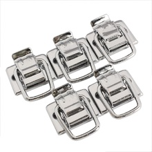 5pcs Chest Box Trunk Suitcase Trinket Tool Latch Clasp Chrome Toggle Latch