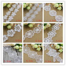 1yard/lot Multi Option White Embroidery Lace Trim Headband Hair Bow Gift Packing DIY Accessory 17010026(China)