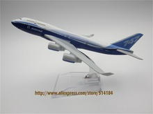16cm Alloy Metal Prototype Boeing 747 400 B747 Airlines ProtoMech Development Aircraft Airplane Model Plane Model W Stand(China)