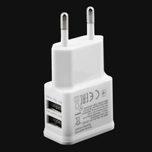 Hot 5V 2A Dual USB Port EU Plug AC Wall Charger Adapter For Cellphone Tablet Wholesale