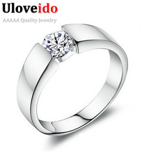 Fashion 40% off Silver Plated Men CZ Diamond Jewelry Rings for Anel Masculino Eagagement Ring Promocoes Anelli Argento Band J002