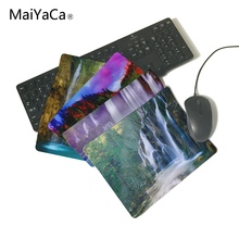MaiYaCa Beautiful Waterfalls In Woods Rubber Soft gaming mouse Cool Games black mouse pad Not Overlock Mouse Pad