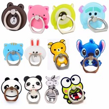 360 Rotate Ring Holder Stand Cartoon Panda Kumamon Bear Support Finger Bracket Smart Phone Food Fruit Stylish Dog Cat Pig Bottle(China)