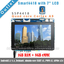 "Smart4418 whit 7""LCD,1.4GHz,1GB RAM,8GB eMMC Quad core Cortex A9 S5P4418 ARM FriendlyARM Android linux DEMO Board(China)"