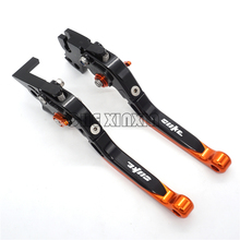 2016 NEW Orange Color Motorcycle CNC Aliminum Adjustable Folding Extendable Brake Clutch Levers Fit For KTM Duke 125 200 390(China)