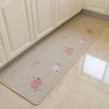 New Arrival Fashion Homeasy Rose Flower Runner Freshness Simpictity Kitchen Carpet Or Badroom Mat Hand Wash Embroidered Patches