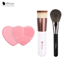 DUcare Foundation brush +powder Brush + Brush Clean 3PCS item hot makeup brushes daily makeup essential beauty makeup tools(China)