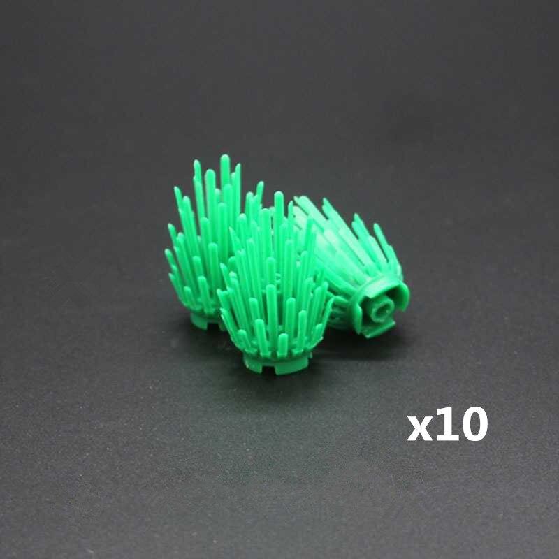 10Pcsset LegoINGlys Mini Bush Tree Plant Grass Shrub Building Blocks Military Weapon MOC Accessory DIY Arms Toys For Children (5)