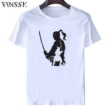 2017 men's fashion short Samurai Warrior t shirt Newest sleeve arajuku funny tee shirts Hipster O-neck cool tops tees XXXL