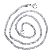 Hot Selling DIY 2*1PC 3.2mm Stainless Steel Mesh Chain Necklace Silver Tone 52.7cm
