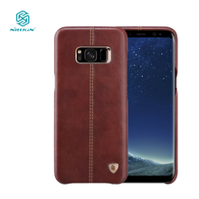 Nillkin Englon phone bags for samsung galaxy s8 case luxury PU Leather Vintage back cover s8 for samsung case 5.8 inch s8 cover(China)