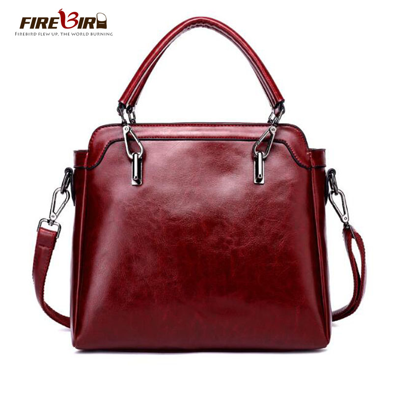 FIREBIRD Brand designer handbag Genuine Leather Tote bag ladies Top Cowhide Handle Crossbody bags for women Shoulder bags FN310<br>