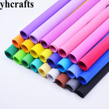24PCS/LOT.2mm 48cm 24 color Eva foam sheets Craft sheets School projects Handmade material Foam paper Kindergarten supplies(China)