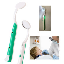 New Arrive LED Light Teeth Oral Dental Mirror Super Bright Mouth Mirror Illuminated Tooth Care Tool Oral Hygiene Random Color(China)
