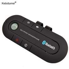 Kebidumei New Bluetooth 4.1 Multipoint Speakerphone Bass Stereo AUX Car Kit Speaker Handsfree Music Receiver Player(China)