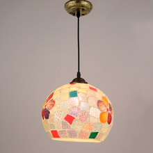 2017 New Tiffany Pendant Lights Kitchen Glass suspension hanging design dining table lighting for dinning room Home(China)
