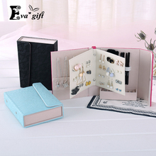 Creative Book shape Jewelry Box makeup organizer necklace/earring Stud Collection Portable travel Jewellery boxes Gift for girl(China)