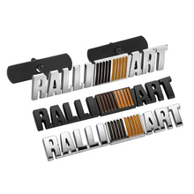14.8x2.9cm RALLIART Bar Zinc Alloy Car Styling Refitting Emblem Badge 3D Sticker/Grille for Mitsubishi EVO EX Lance Virage
