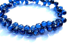 bulk cubic zirconia gemstone apricot drop onion faceted sahhpire blue mixed jewelry beads bracelet 5.5x7mm 64pcs