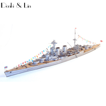 1:400 3D United Kingdom Hood Battleship Battlecruiser Paper Model Second World War Assemble Hand Work Puzzle Game DIY Kids Toy(China)