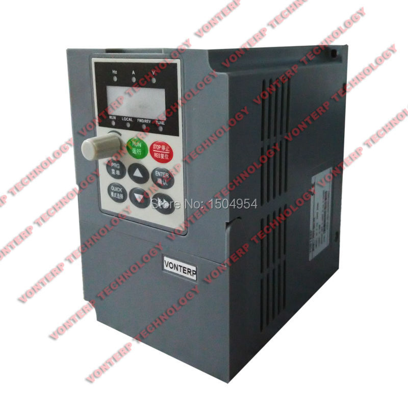 220v 1.5kw Single phase input and 220v 3 phase output Frequency inverter/ac motor drive/VSD<br><br>Aliexpress