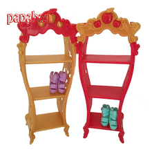 Papabasi Doll Furniture Kids Playhouse Shoes Rack For 1/6 joint body baby Dollhouse Storage Racks toy