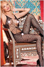 Buy Sexy Lingerie Hot Erotic Fishnet Bodystocking Bodysuits Costumes Women Open Crotch Plus Size Dress Babydolls Underwear QQ081