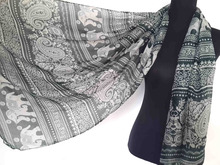 10pcs/lot Paisley Elephant Print Vintage Scarf Shawl Wrap Oversize, Great Gift for her, Free Shipping