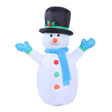 120cm 4foot Snowman Inflatable Toys Santa Claus LED Light Christmas Halloween Props Winter Party Blow Up Yard Outdoor Decoration(China)