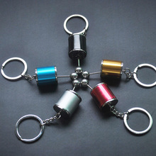 Six-speed Manual Transmission Shift Lever Keychain Creative Auto Part Model Automotive Keyrings Key Chain  Keyfob Jewelry
