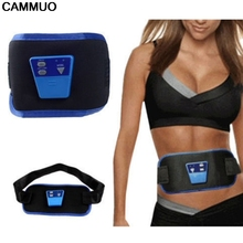 1pc hot sell Women Waist Slimming Belt Belly Electric Back Shoulder Vibration Anti Cellulite Massager Fat Burner Machine(China)