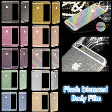 2016 New For iphone 6 6s Plus Bling 360 Degree Full Body Decal Skin Bling Glitter Phone Protective Sticker Wrap Phone Case