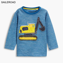 SAILEROAD Cartoon 18M-6Years Old Children Kids Boys Long Sleeve Shirts Cotton Autumn Spring Baby Kids Boy's T Shirt Boys Clothes(China)