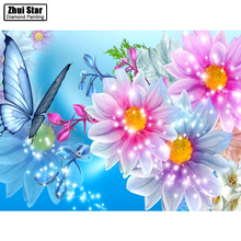 "Full Drill Square Diamond 5D DIY Diamond Painting""Sparkling flowers""Diamond Embroidery Cross Stitch Rhinestone Mosaic Painting"