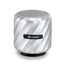 Cowin Qbeat Mini Bluetooth Vibration Speaker Portable Wireless Subwoofer with MIC for phone Computer and Suction Cup Stander