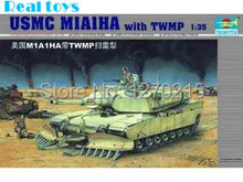 Trumpeter model 00335 1/35 U.S.M.C M1A1HA with TWMP mine plow(China)
