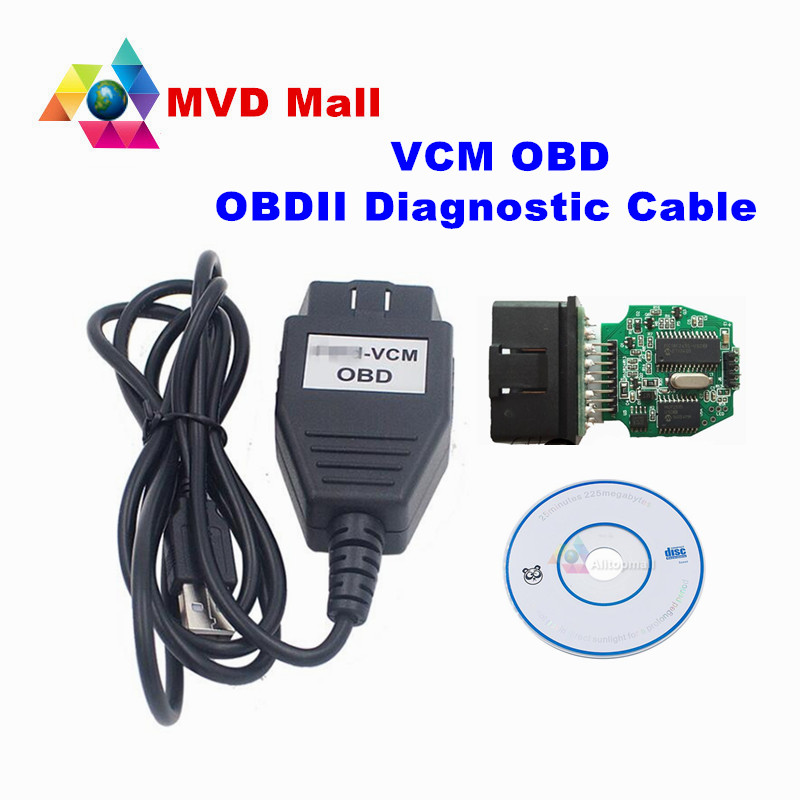 Professional Diagnostic Tool For Ford VCM OBD OBD2 Diagnostic Interface Mini Version Of For Ford VCM IDS For Mazda OBD Cable(China (Mainland))
