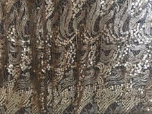 NEW STYLE gold sequined lace fabric, backdrop, photograph prop, wedding table cloth, bridal lace fabric(China)