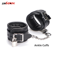Buy SMSPADE leather Bdsm Bondage Fetish Slave Sex Toys Couples Ankle Cuffs Bondage Restraints Kit Erotic Adult Games Sex Shop
