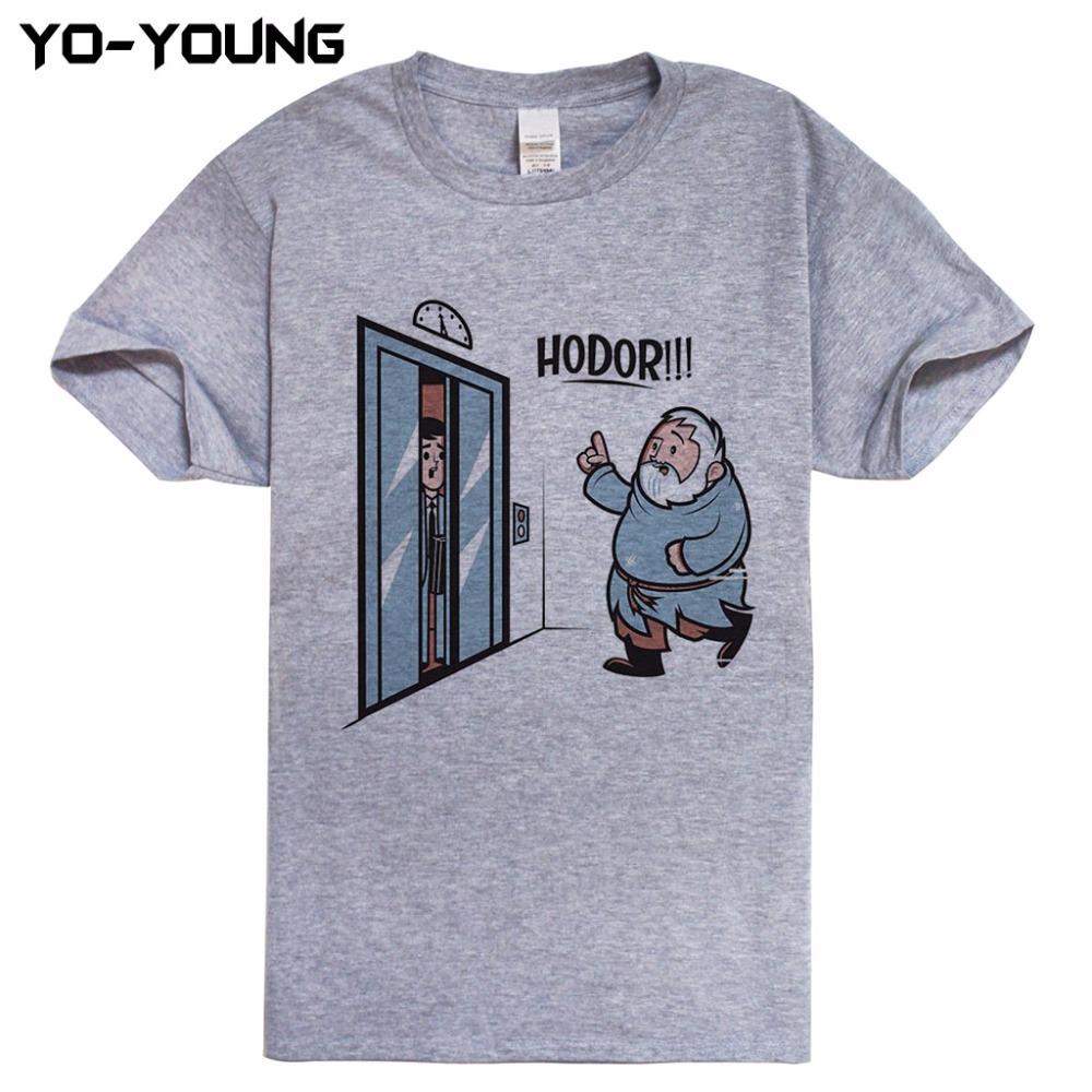 HTB1rvdjRpXXXXXZXXXXq6xXFXXXE - Game Of Thrones Hodor Jon Snow Men T Shirts Funny Design T-shirts For Men Digital Printed 100% 180g Combed Cotton Customized