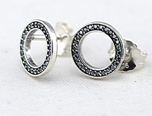 Compatible with Pandora Jewelry Forever Silver Stud Earrings With CZ New 925 Sterling Silver Earring DIY Wholesale